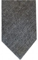 Black & White Herringbone Tie