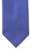 Mid Blue Diagonal Pattern Polyester Tie