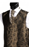 Brown Embroidered Finish Wedding Waistcoat