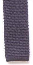 Grey Knitted Mens Tie
