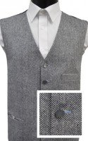 Black & White Herringbone 1857 Wool Handle Waistcoat
